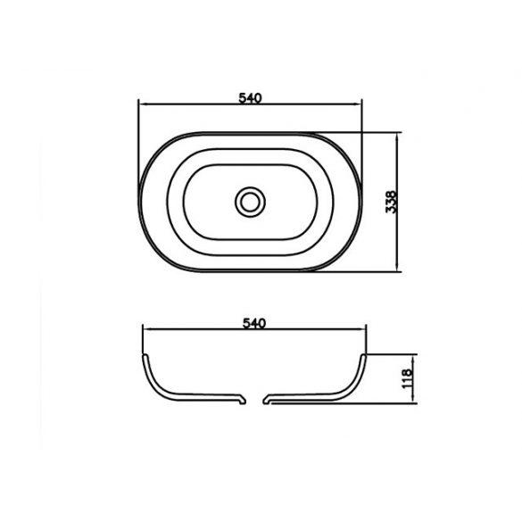 AREZZO design Boston 54x33,8 mosdótál AR-0017