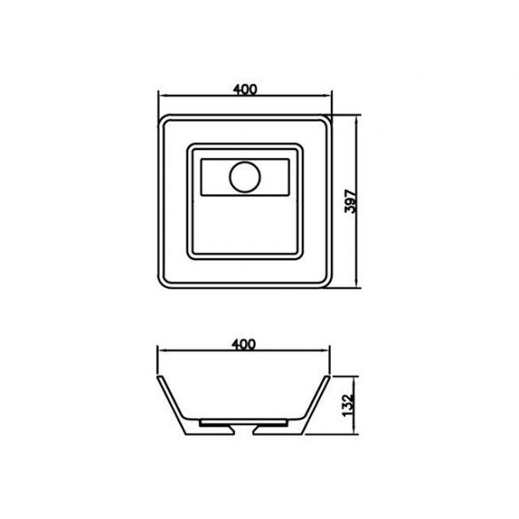 AREZZO design Cleveland 40x39,7 mosdótál AR-0021