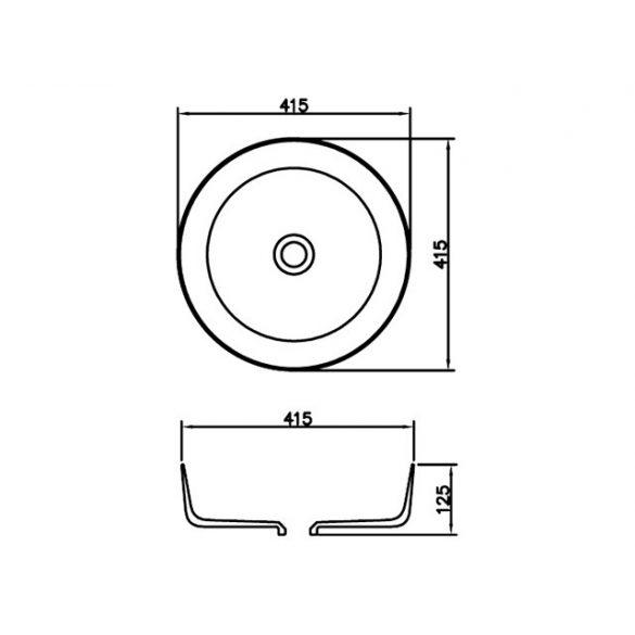 AREZZO design Memphis 41,5x41,5 mosdótál AR-0022