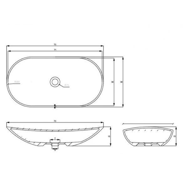 AREZZO  design Piato pultra ültethető mosdó