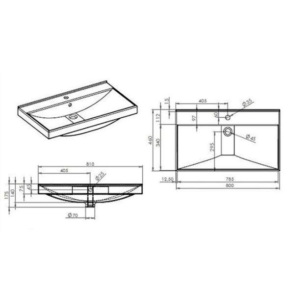 AREZZO design Maxxi 80 cm-es mosdó