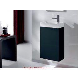 Mini 40 egyajtós antracit alsószekrény mosdóval