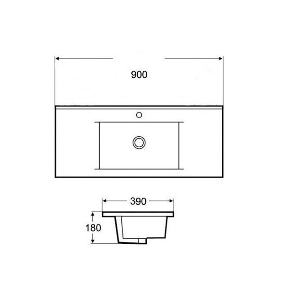 AREZZO design Medford 90x39 beépíthető mosdó AR-3090