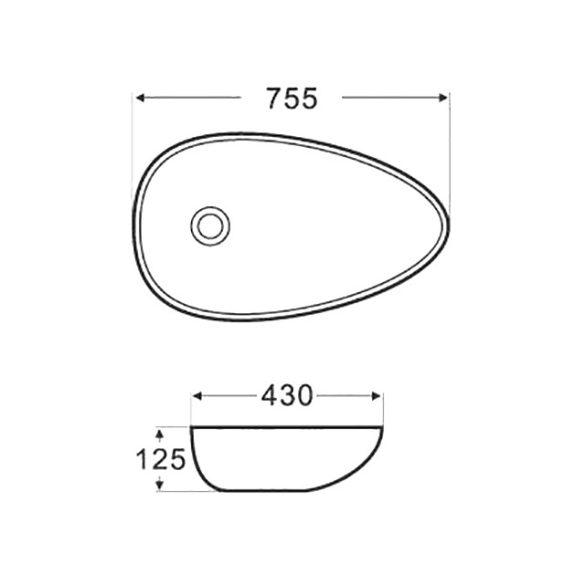 AREZZO design Atlanta 75,5x43 mosdótál AR-326