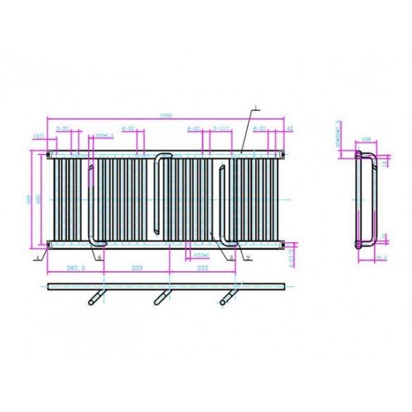 AREZZO design Smart ANTRACIT 1200x500 törölközőszárítós radiátor AR-SM12050