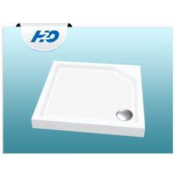 H2O Zénó SLIM  80x80 szögletes zuhanytálca szifonnal