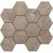 MYStone Taupe hexagon mozaik 30x34