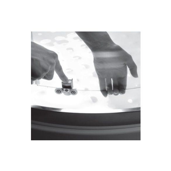 H2O Projecta szögletes kabin 80x80 átlátszó, vagy fabrik üveggel