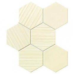 Horizon hex ivory 28,9x22,1 mozaik