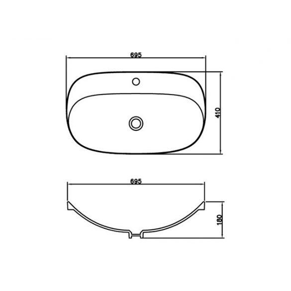 AREZZO design Seattle 69,5x41 mosdótál AR-0025