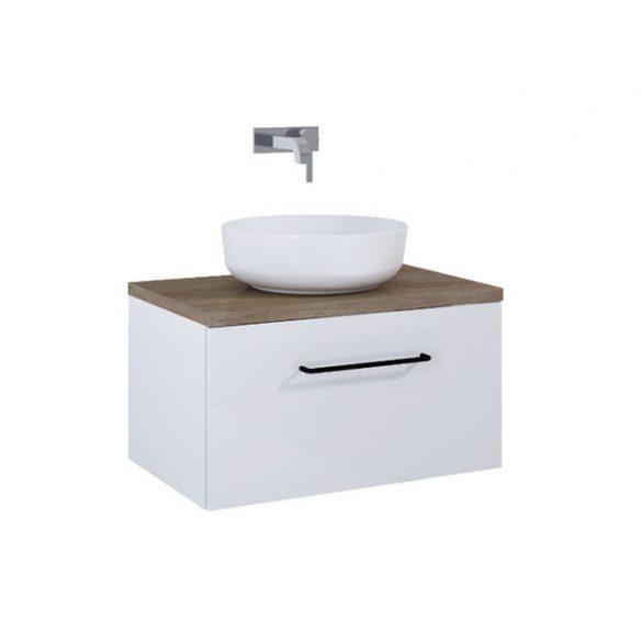 AREZZO Carmel 70cm-es alsószekrény 1 fiókkal magasfényű fehér