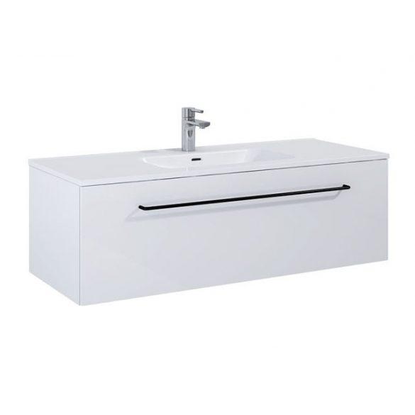 AREZZO Carmel 120cm-es alsószekrény 1 fiókkal magasfényű fehér