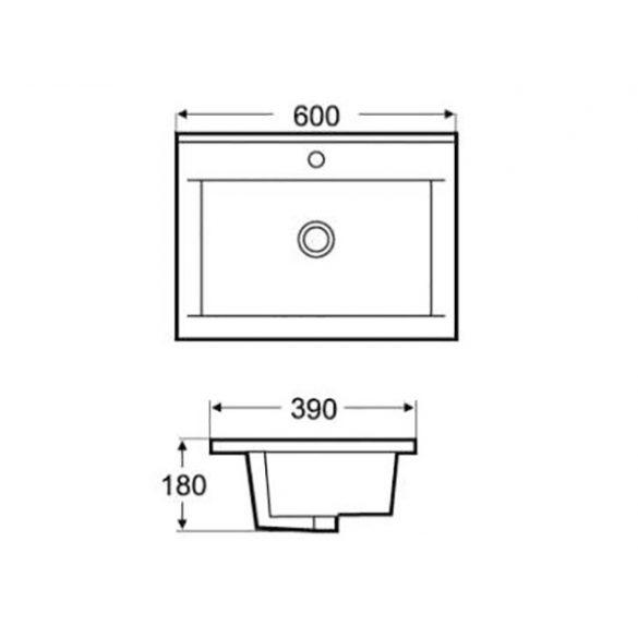 AREZZO design Medford 60x39 beépíthető mosdó AR-3060