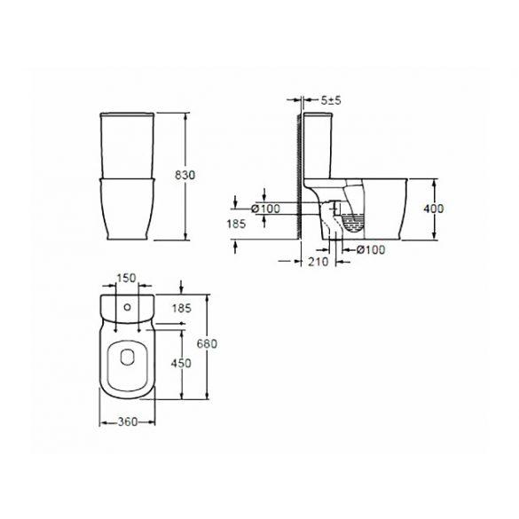 AREZZO design Charlton kombi wc alsós/hátsós AR-402 ( 2 doboz )
