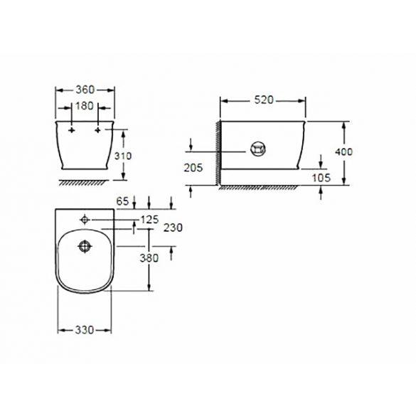 AREZZO design Charlton függesztett bidet AR-403