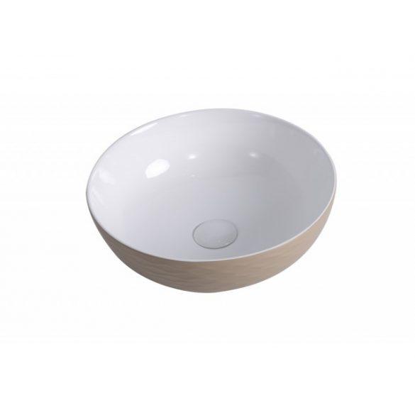 AREZZO design Toledo mosdótál, beige/fehér AR-471
