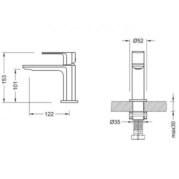 AREZZO design Springfield 100 mosdó csaptelep AR-5031