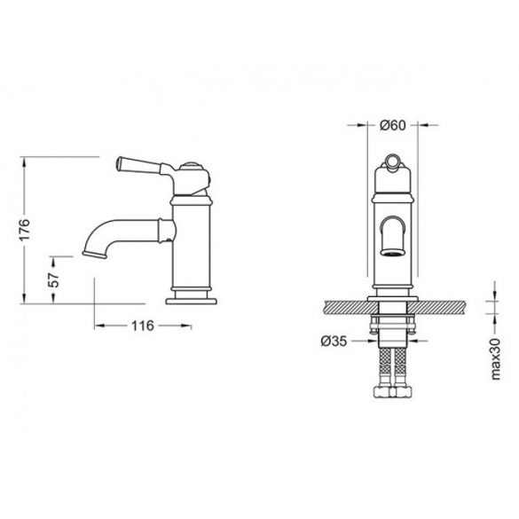 AREZZO design Oldfield mosdócsaptelep AR-51001