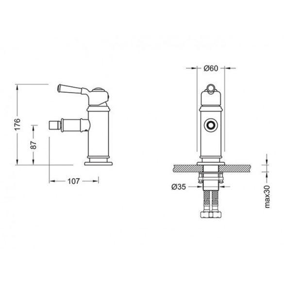 AREZZO design Oldfield bidécsaptelep AR-51023