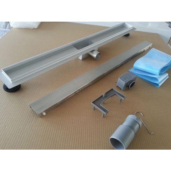 AREZZO design 700 mm-es rozsdamentes acél folyóka Steel ráccsal AR-700