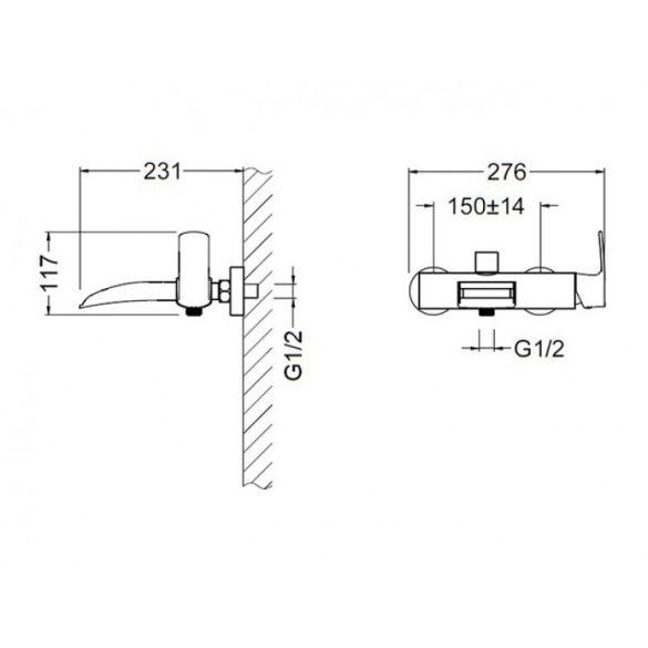 AREZZO design Wakefield Cascade kád csaptelep AR-7020