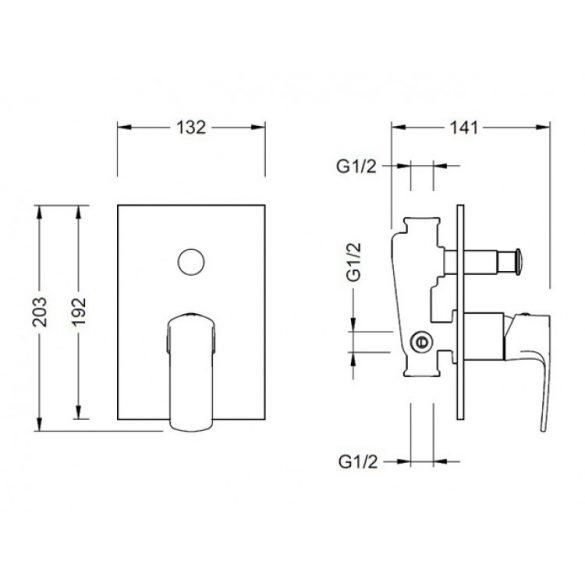 AREZZO design Wakefield falsík alatti kád csaptelep AR-7069