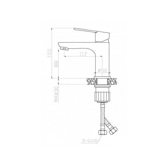 AREZZO design Blackfield Mosdócsaptelep AR-8801