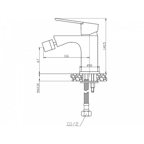 AREZZO design Blackfield Bidécsaptelep AR-8803
