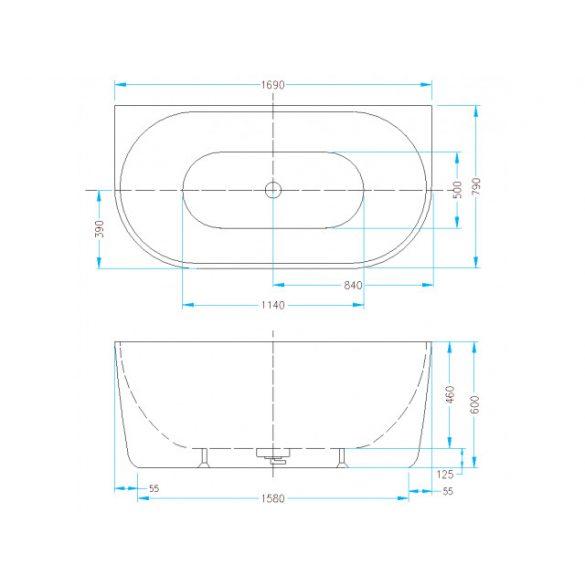 AREZZO design Falhoz tehető térkád AR-Manhattan170