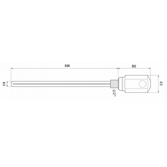 AREZZO design fűtőpatron - fekete AR-RD10B