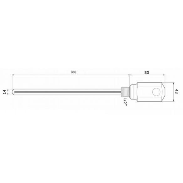 AREZZO design fűtőpatron - króm AR-RD10C