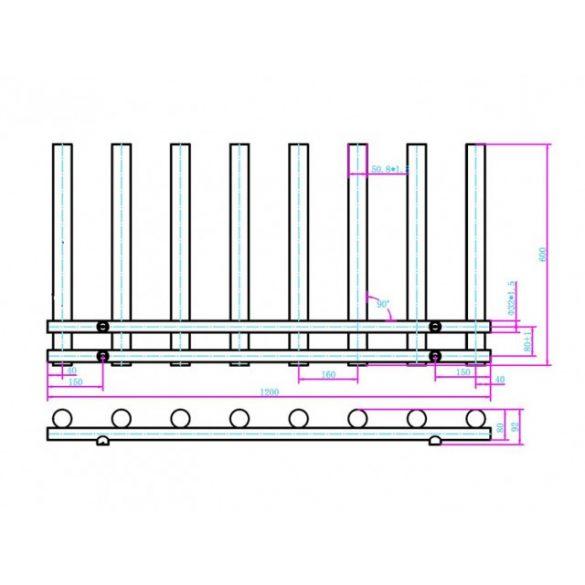 AREZZO design Tube Chrome 1200x600 törölközőszárítós radiátor AR-TCR12060