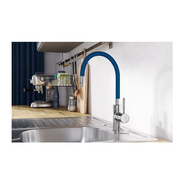 Zumba - Álló mosogató csaptelep flexibilis kifolyócsővel, klasszikus kék