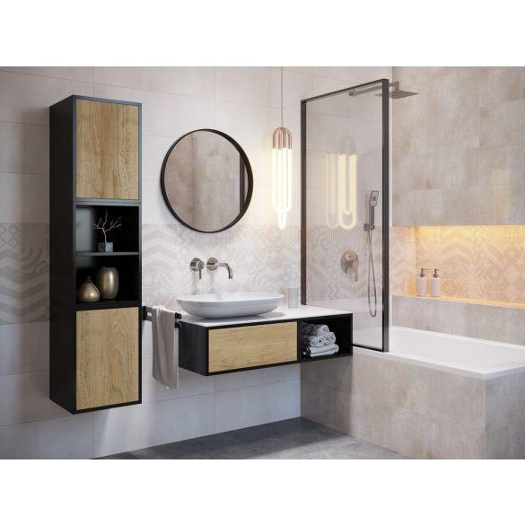 Flame - Portobello Soft Grey dekor - 25x75