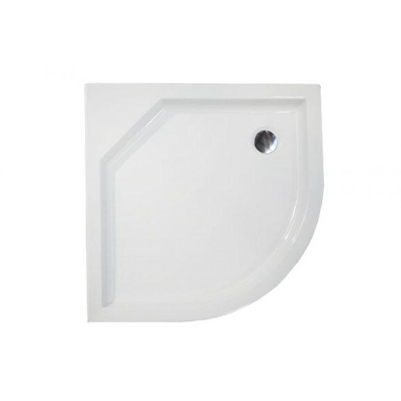 H2O Zénó 90x90 íves zuhanytálca szifonnal