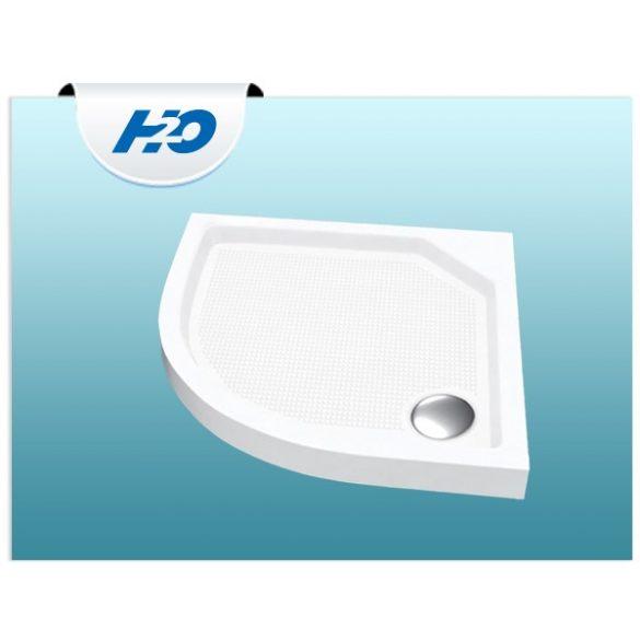 H2O Zénó SLIM  90x90 íves zuhanytálca szifonnal