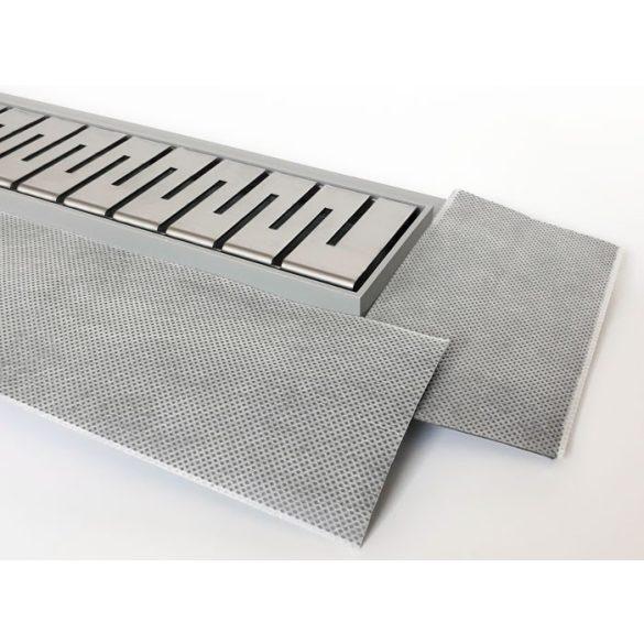 H2O 80 cm-es műanyag zuhanyfolyóka rozsdam. ráccsal (4 féle rácstipus)