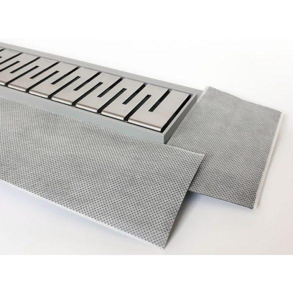 H2O 100 cm-es műanyag zuhanyfolyóka rozsdam. ráccsal (4 féle rácstipus)