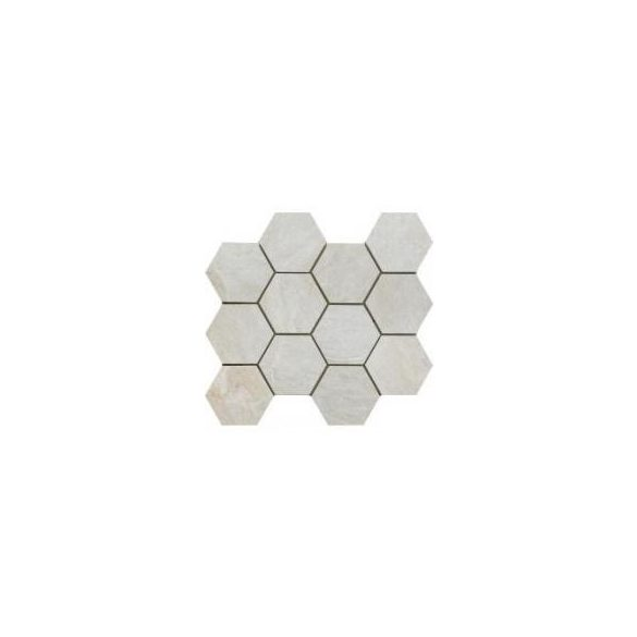 MYStone Bianco hexagon mozaik 30x34